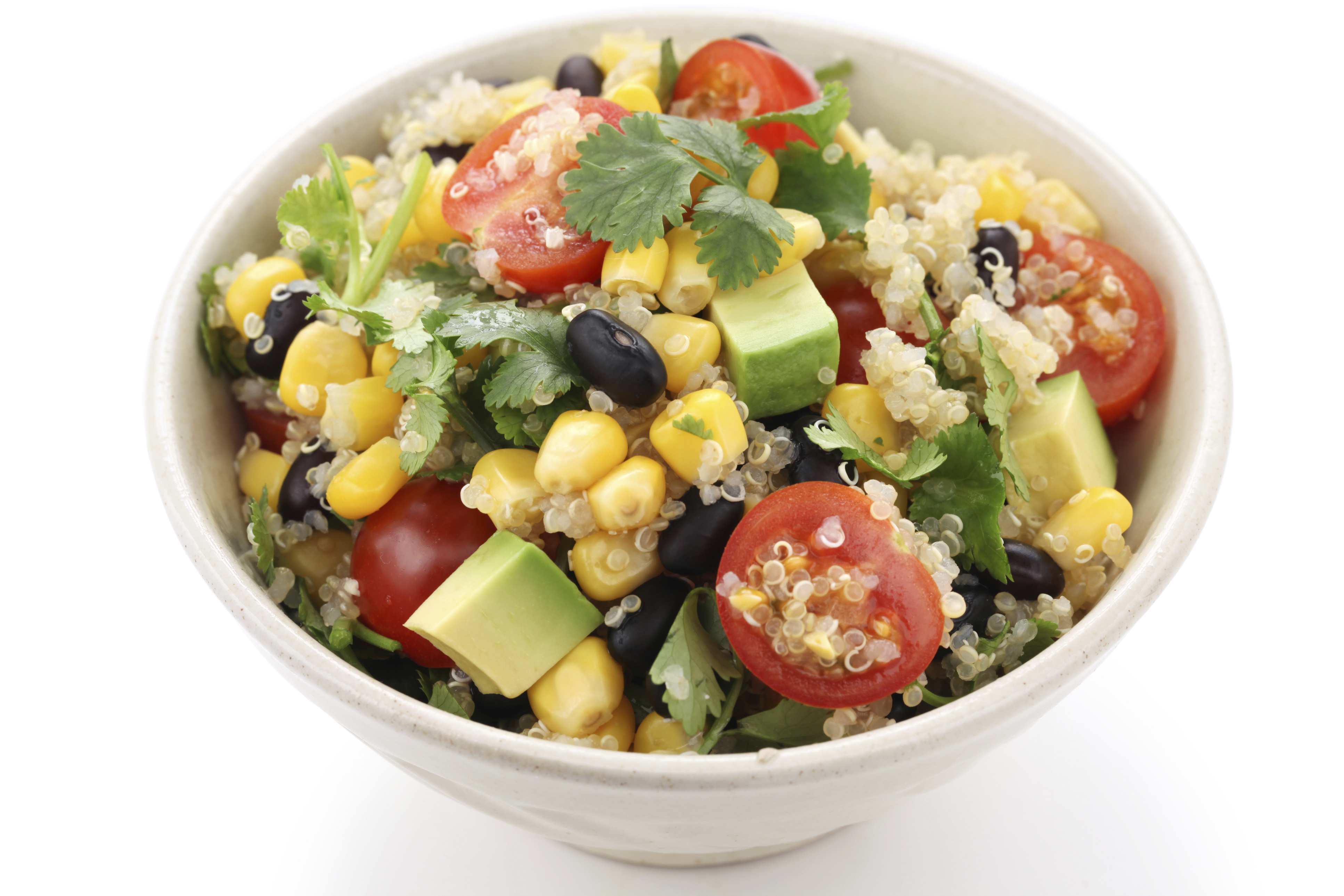 Fast Food Eating Vegetarian