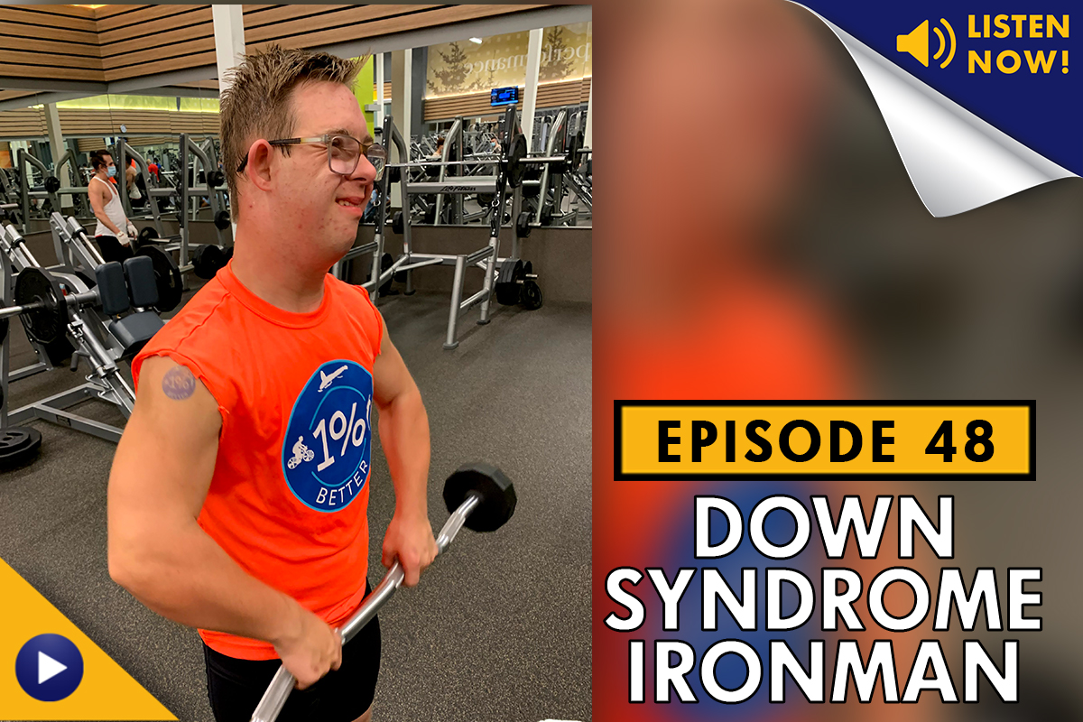 Chris Nikic - Down Syndrome Ironman - training in an LA Fitness