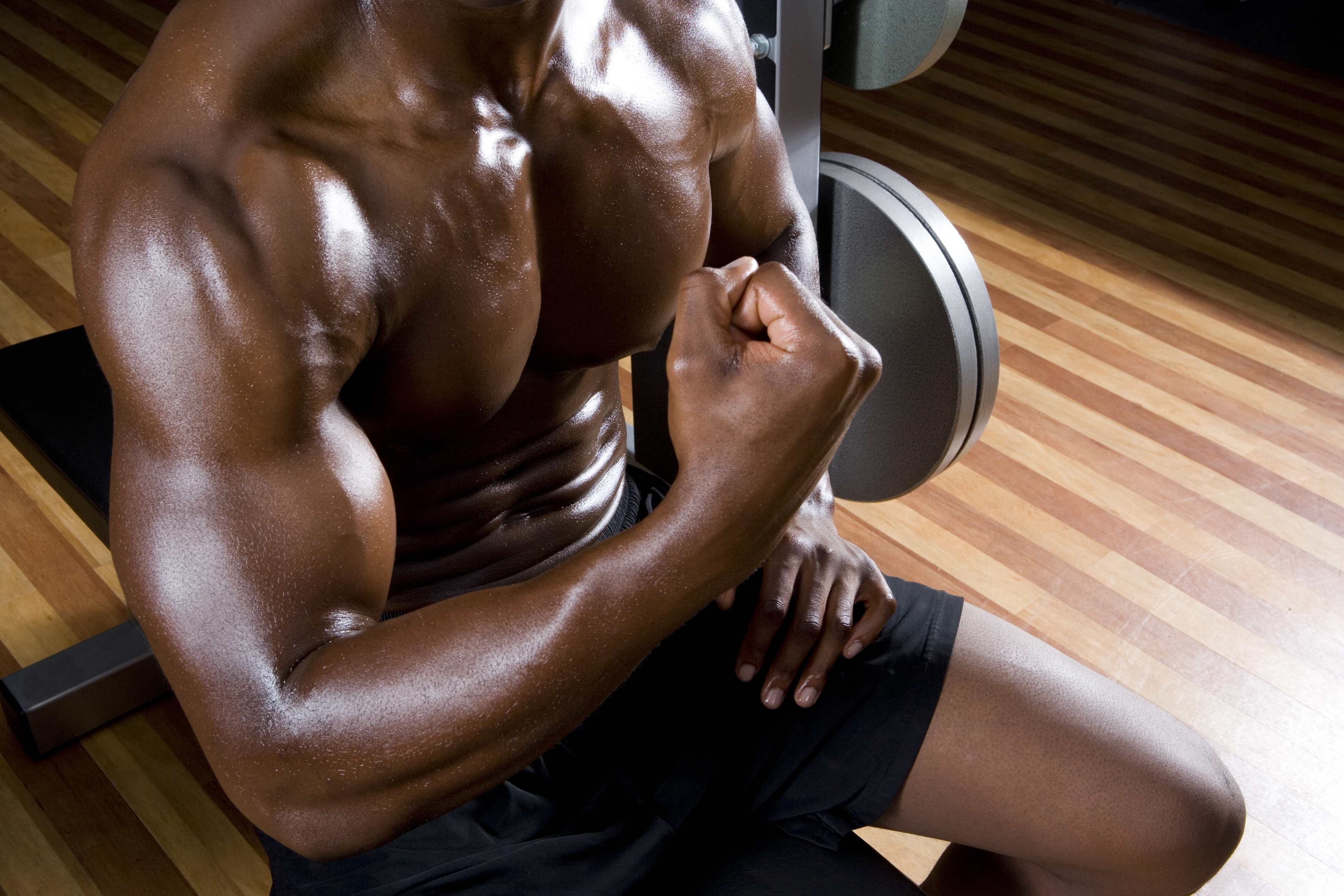 muscle definition comes with Living  Healthy and LA Fitness