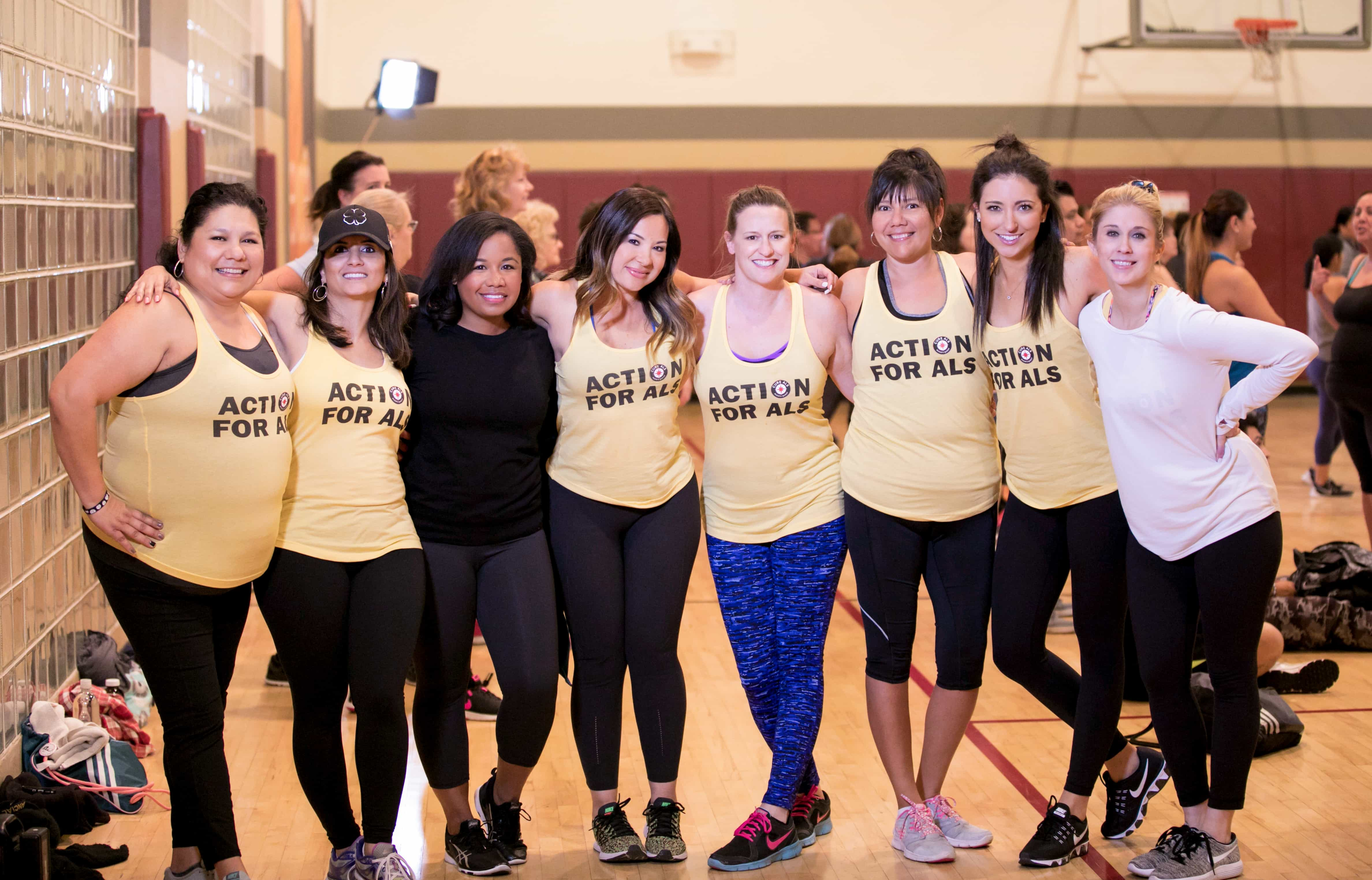 group fitness glass, Action for ALS, LA Fitness Cares, zumba class, group fitness