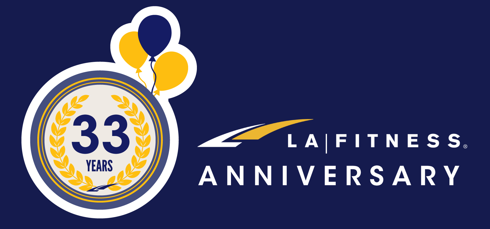 It's LA Fitness' 33rd Anniversary!