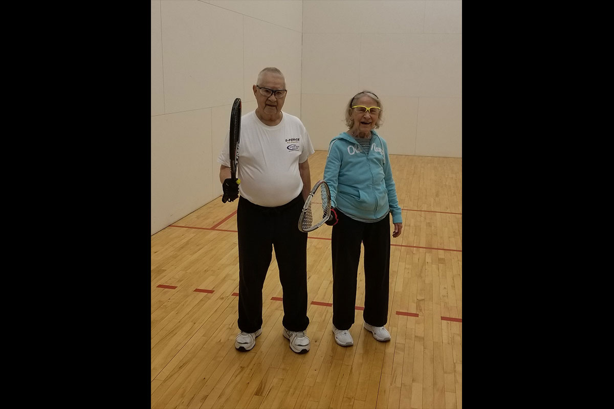 LAF, LA Fitness, Living Healthy, Living Healthy blog, Member Spotlight, member spotlight story, member story, racquetball, racquetball leagues, couple story, senior success story, racquetball champions, LAF Club Leagues