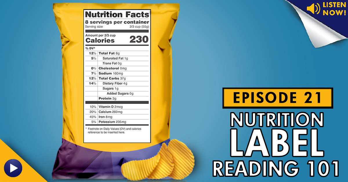 LAF, LA Fitness, Living Healthy, nutrition, nutrition label reading, nutritional tips, how to read a nutrition label, nutrition facts, sodium, sugars, updated nutrition label laws, LAF podcast, LHP, Living Healthy Podcast